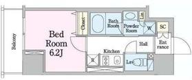 レジディア笹塚34階Fの間取り画像