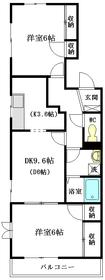 サンライズ3階Fの間取り画像