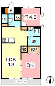 ドムール・G・サンスーシ4階Fの間取り画像