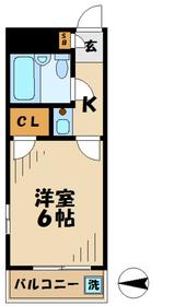 TISマンション堀之内5階Fの間取り画像