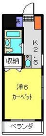 日吉駅 徒歩8分2階Fの間取り画像