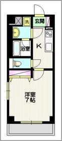 ヴァンドムール1階Fの間取り画像