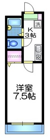メゾン クレール1階Fの間取り画像