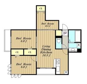 (仮)D-room元橋本3階Fの間取り画像