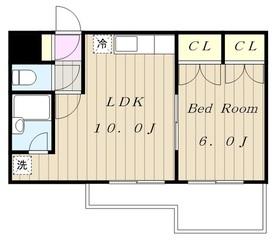 多摩センチュリーマンション4階Fの間取り画像