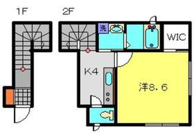 ハウスくりたや2階Fの間取り画像