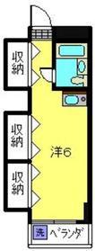 コア六角橋2階Fの間取り画像