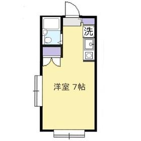 藤間コーポ12階Fの間取り画像