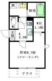 Maison Nakano Ⅱ1階Fの間取り画像