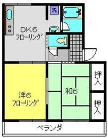 メゾン槙2階Fの間取り画像