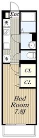 リブリハナミズキ湘南台1階Fの間取り画像