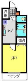 サニーコート水野1階Fの間取り画像