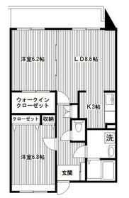 パルク ド スリジェ3階Fの間取り画像