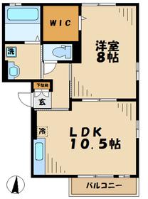 本厚木駅 バス19分「西一丁目」徒歩2分1階Fの間取り画像