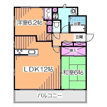 最上階角部屋
