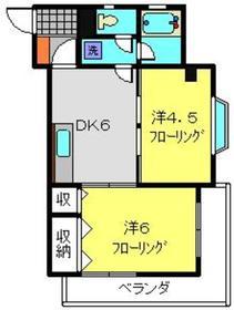 大倉山駅 徒歩10分3階Fの間取り画像