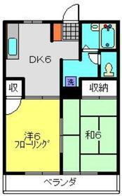 サンハイム富士見3階Fの間取り画像
