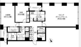 虎ノ門タワーズレジデンス38階Fの間取り画像