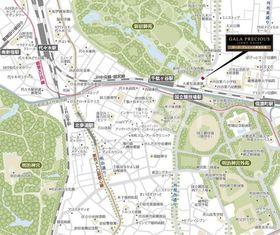 信濃町駅 徒歩8分案内図