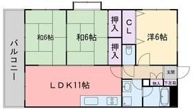 下山門駅 徒歩14分3階Fの間取り画像