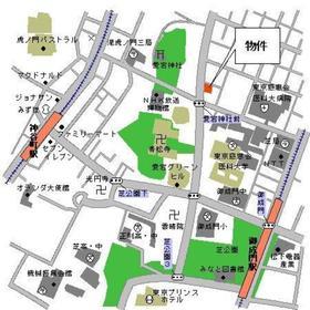 パークキューブ愛宕山タワー案内図