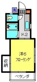 西沢アパート2階Fの間取り画像