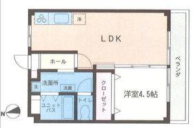 三ツ境ハウス3階Fの間取り画像