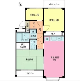 ヒルズ諏訪坂マンション3階Fの間取り画像