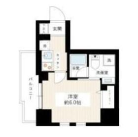 リヴシティ横濱関内4階Fの間取り画像
