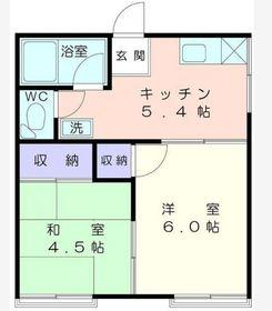 永南ハイム1階Fの間取り画像