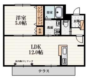 ラ シェール リオン1階Fの間取り画像