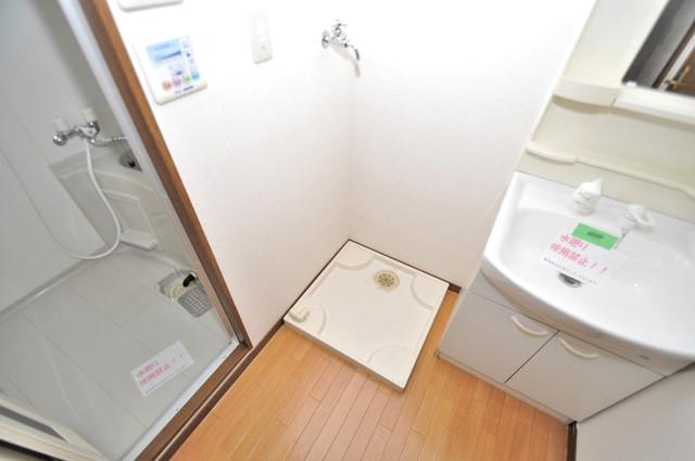 ウェール 洗濯機置場が室内にあると本当に助かりますよね。