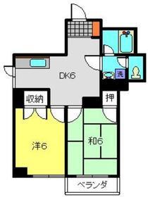 保土ヶ谷太田ビル5階Fの間取り画像