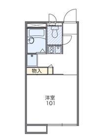 愛甲石田駅 徒歩19分1階Fの間取り画像