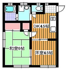 地下鉄赤塚駅 徒歩5分2階Fの間取り画像