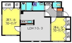 メゾンデミーセ32階Fの間取り画像