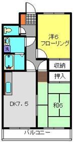 メゾンドール諏訪坂2階Fの間取り画像