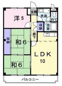 ハイム相武台2階Fの間取り画像
