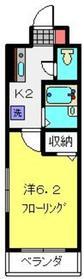 第3三基ビル4階Fの間取り画像