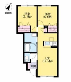 クレストールアベニュー1階Fの間取り画像
