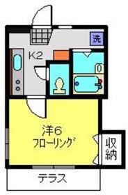 オメガパレス9丁目1階Fの間取り画像