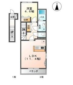 バトー・ヴェルジェ2階Fの間取り画像