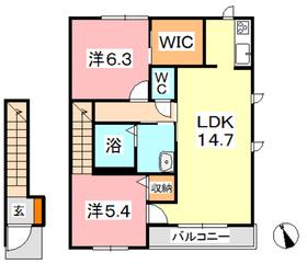ヴィレ・エトワール H2階Fの間取り画像