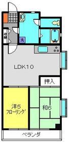 コスモ佐野2階Fの間取り画像