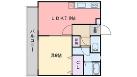グランマキ室見22階Fの間取り画像