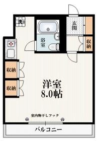 イナミハイム3階Fの間取り画像