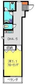 三田レジデンス阪東橋3階Fの間取り画像