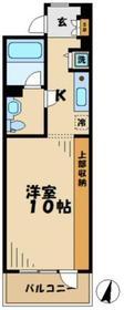はるひ野駅 徒歩2分4階Fの間取り画像