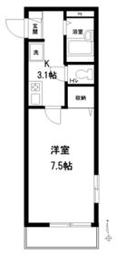 メゾングラシュー3階Fの間取り画像
