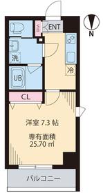 COURT TAKETOKU Ⅲ4階Fの間取り画像